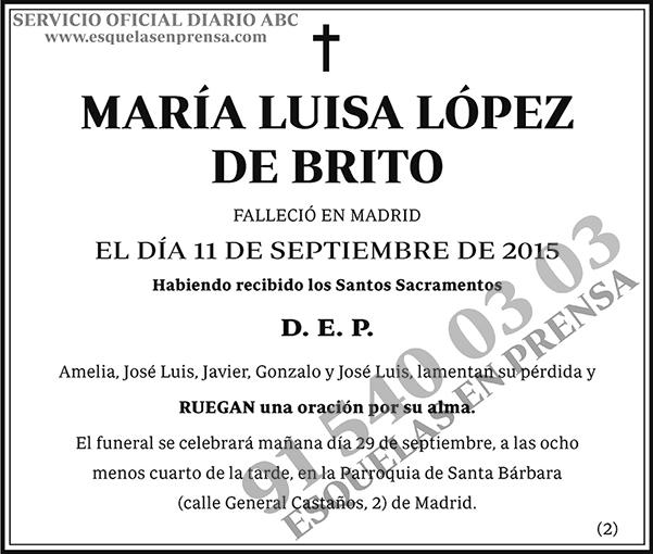 María Luisa López de Brito